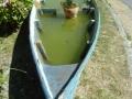 Barque utilisée comme décoration de carrefour à Charavines !